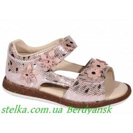 Кожаные босоножки для девочки, обувь Минимен, 6849-1