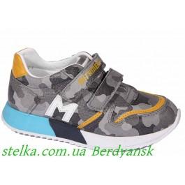 Кожаные детские кроссовки для мальчика, обувь Minimen, 6883-1