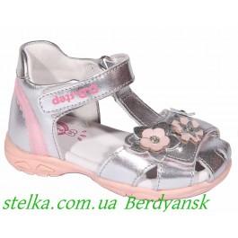 Детские кожаные сандалии для девочек, ТМ DDSTEP Led, 6890-1