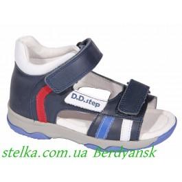 Кожаные детские босоножки для мальчика, обувь DDSTEP, 6889-1