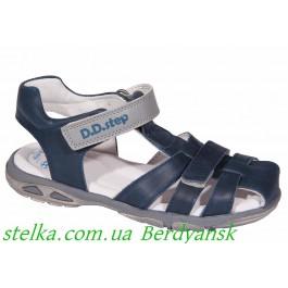 Кожаные босоножки для мальчиков, обувь DD Step, 6917-1