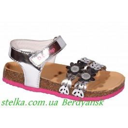 Кожаные босоножки на девочку, обувь DD Step (Венгрия), 6919-1