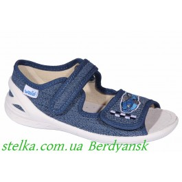 Детские текстильные босоножки для садика, обувь Waldi, 6920-1