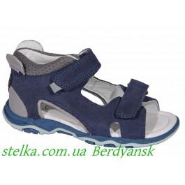 Детские кожаные босоножки для мальчиков, обувь ТМ Bartek, 6930-1