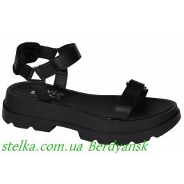 Черные босоножки для девочки подростка, ТМ EVIE, 6934-1