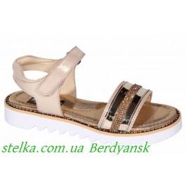Кожаные босоножки для девочек, обувь ТМ Minimen, 6939-1