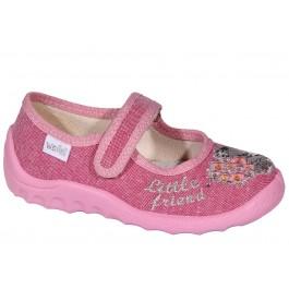 Текстильные тапочки в садик для девочки, обувь ТМ Waldi, 6996-1