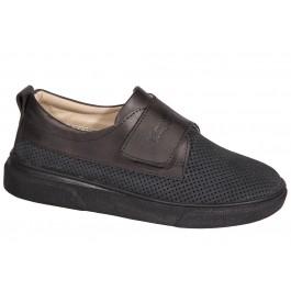 Школьные кожаные туфли для мальчика (перфорация), ТМ Happy Walk, 7008-1