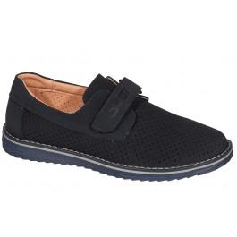 Школьные туфли (перфорация) для мальчика подростка, ТМ Qwest, 7021-1