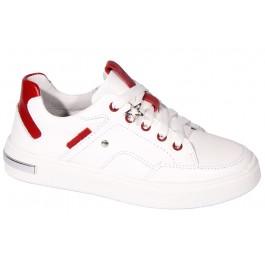 Белые кеды для девочки, детская кожаная обувь Мальви, 7035-1