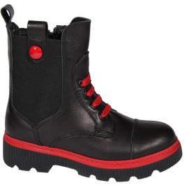 Кожаные ботинки для девочки, демисезонная обувь Minimen, 7067-1