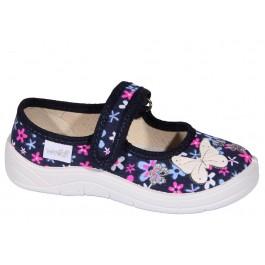 Текстильные тапочки в садик девочкам, обувь Waldi, 7065-1