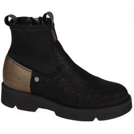 Кожаные ботинки с текстильными вставками для подростка девочки, ТМ Bartek, 7072-1