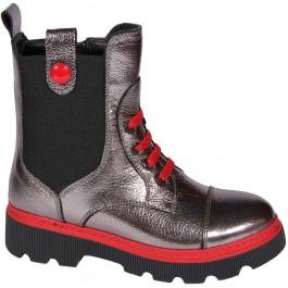 Кожаные осенние ботинки девочке, обувь Minimen, 7086-1