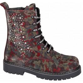 Кожаные демисезонные ботинки для девочки, обувь Minimen, 7109-1