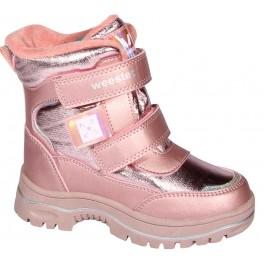 Детские зимние ботинки для девочки, термоботинки Weestep, 7112-1