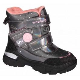 Детские зимние ботинки для девочек, термо обувь Weestep, 7113-1