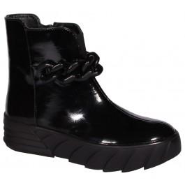 Осенняя обувь для девочки, кожаные деми ботинки Bravi, 7101-1
