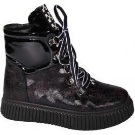 Кожаные ботинки для девочек, демисезонная обувь Moda.Sen (Turkey) 7116-1