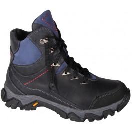 Подростковые зимние ботинки для мальчика, кожаная обувь Bravi, 7123-1