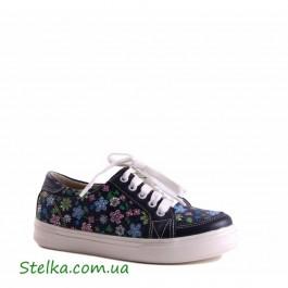 Кожаные полуботинки для девочки на платформе, детская обувь Tobi, 5609-1