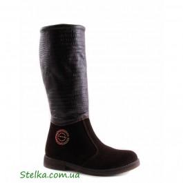 Замшевые зимние сапоги для девочки, брендовая обувь Constanta, Распродажа, 5670-1